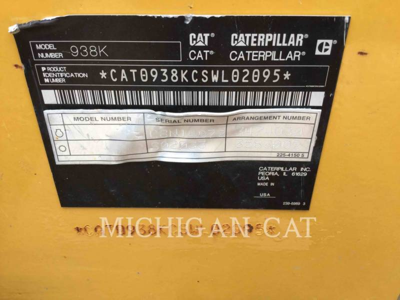 CATERPILLAR PALE GOMMATE/PALE GOMMATE MULTIUSO 938K equipment  photo 8