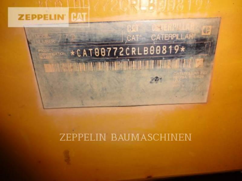 CATERPILLAR MULDENKIPPER 772 equipment  photo 18