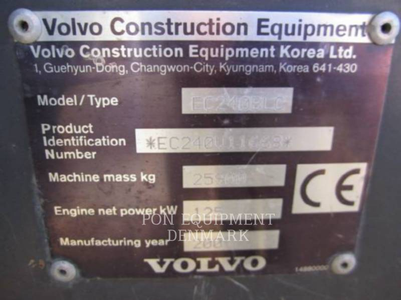 VOLVO CONSTRUCTION EQUIPMENT PELLES SUR CHAINES EC240BLC equipment  photo 20