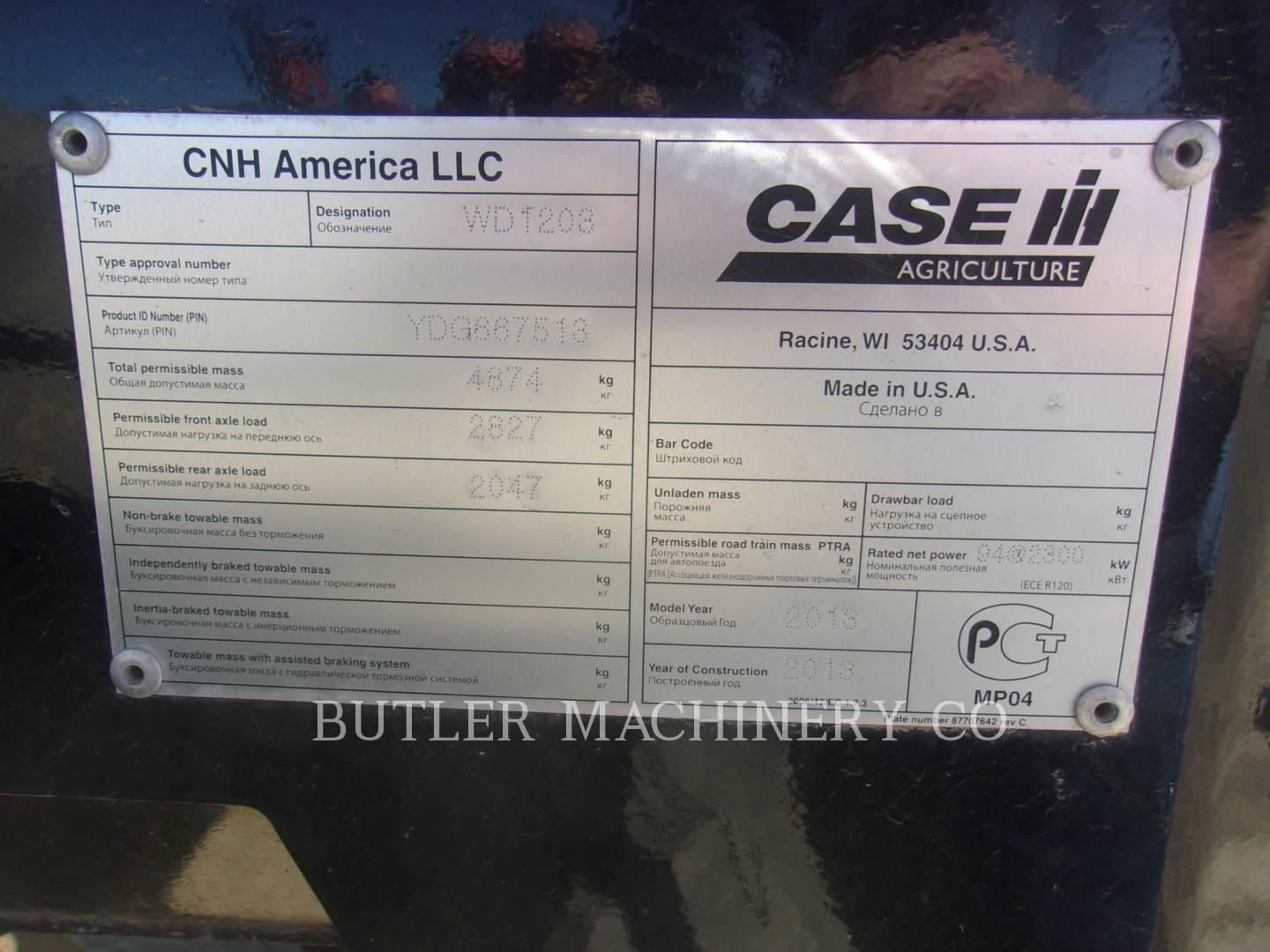 Detail photo of 2013 Case IH WD1203 from Construction Equipment Guide