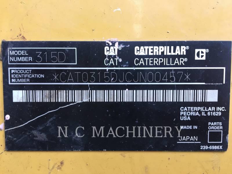 CATERPILLAR トラック油圧ショベル 315D L equipment  photo 2