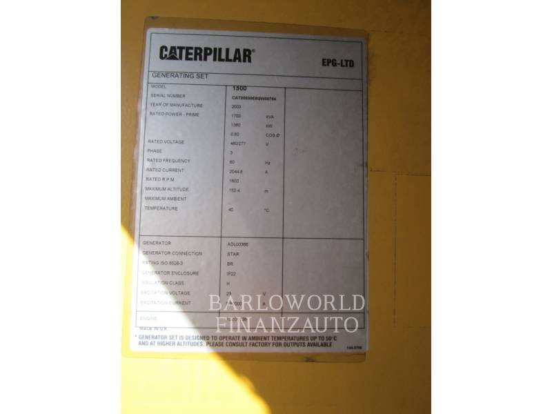 CATERPILLAR POWER MODULES (OBS) 3512B equipment  photo 2