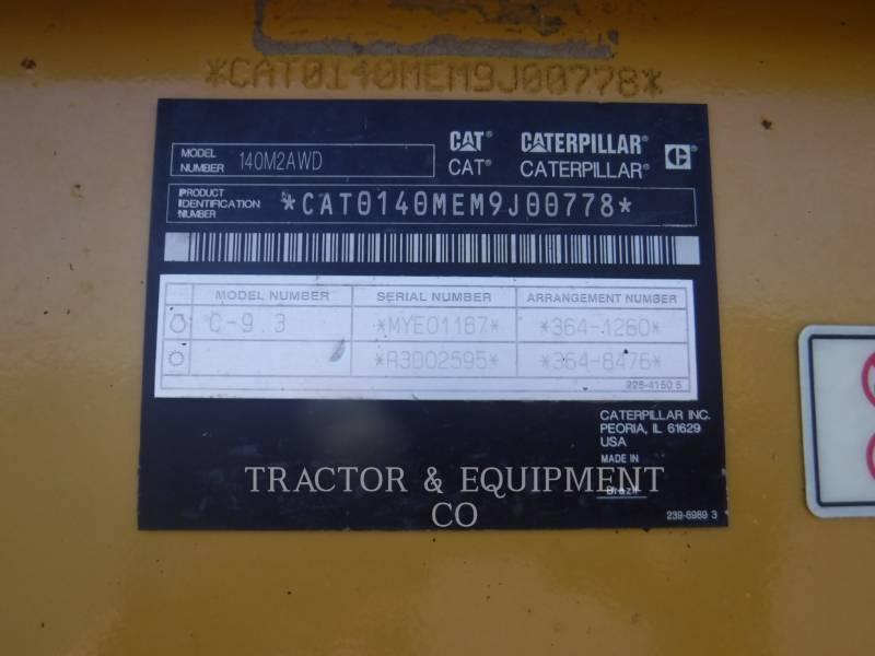 CATERPILLAR MOTOR GRADERS 140M2 AWD equipment  photo 2