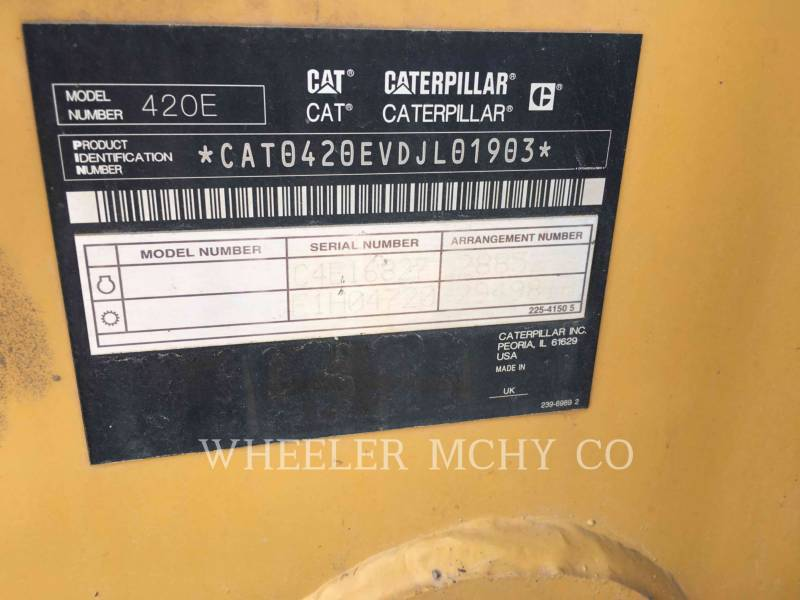 CATERPILLAR BAGGERLADER 420E E THM equipment  photo 12