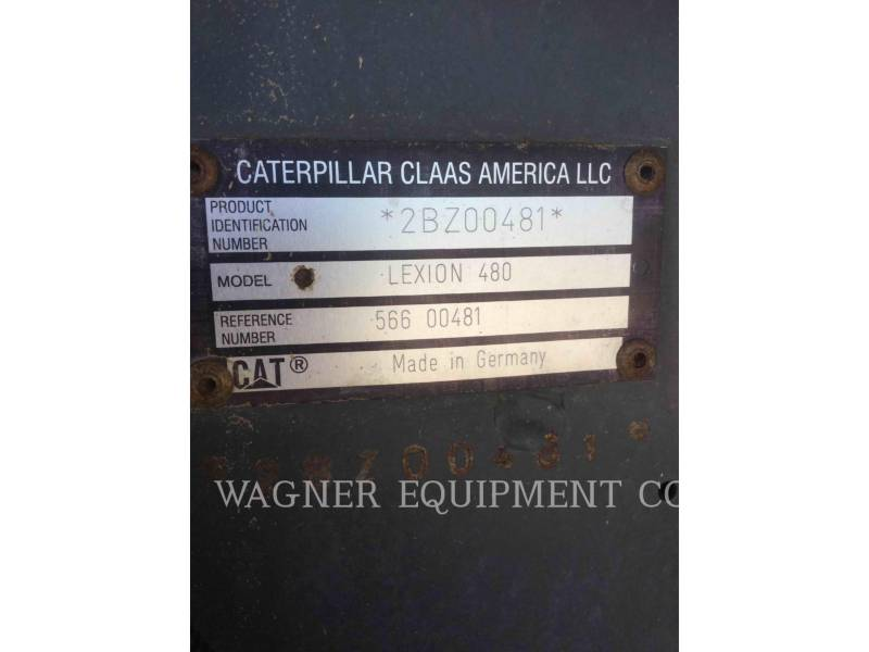 CATERPILLAR KOMBAJNY 480 equipment  photo 5