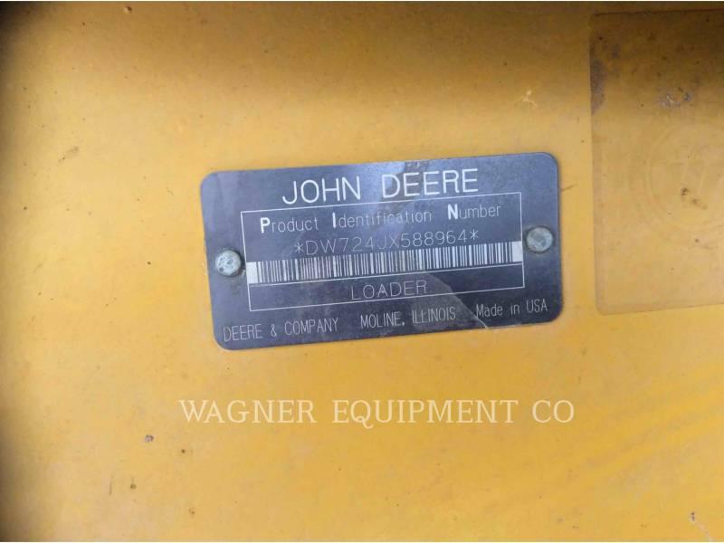 JOHN DEERE WHEEL LOADERS/INTEGRATED TOOLCARRIERS 724J equipment  photo 6