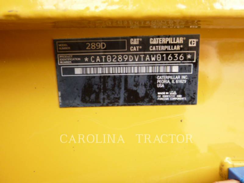 CATERPILLAR TRACK LOADERS 289D equipment  photo 8
