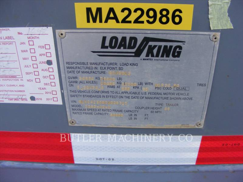 LOAD KING トレーラ 2060 equipment  photo 6