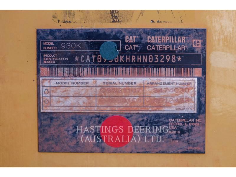 CATERPILLAR RADLADER/INDUSTRIE-RADLADER 930K equipment  photo 10
