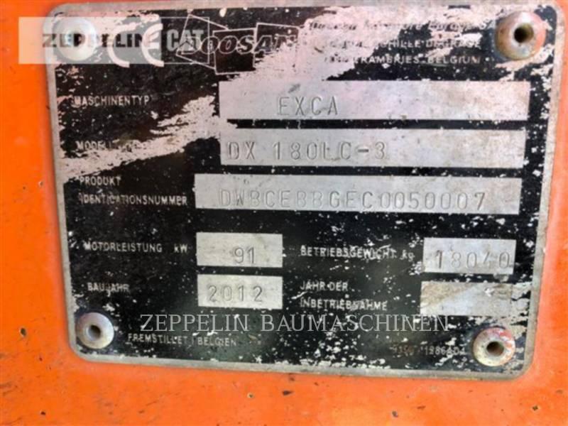 DOOSAN INFRACORE AMERICA CORP. PELLES SUR CHAINES DX180 equipment  photo 2