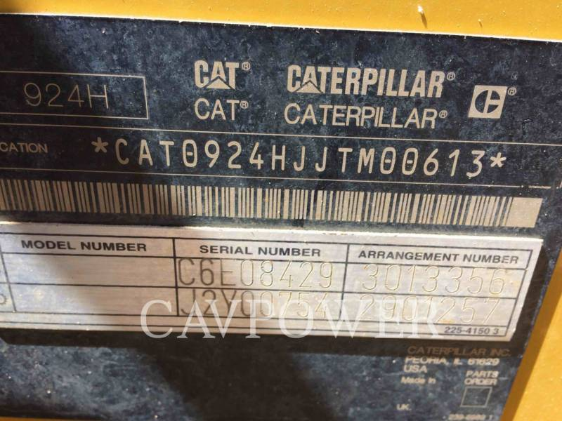 CATERPILLAR WHEEL LOADERS/INTEGRATED TOOLCARRIERS 924 H equipment  photo 5