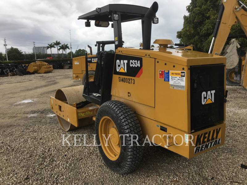 CATERPILLAR COMPACTEUR VIBRANT, MONOCYLINDRE LISSE CS 34 equipment  photo 4