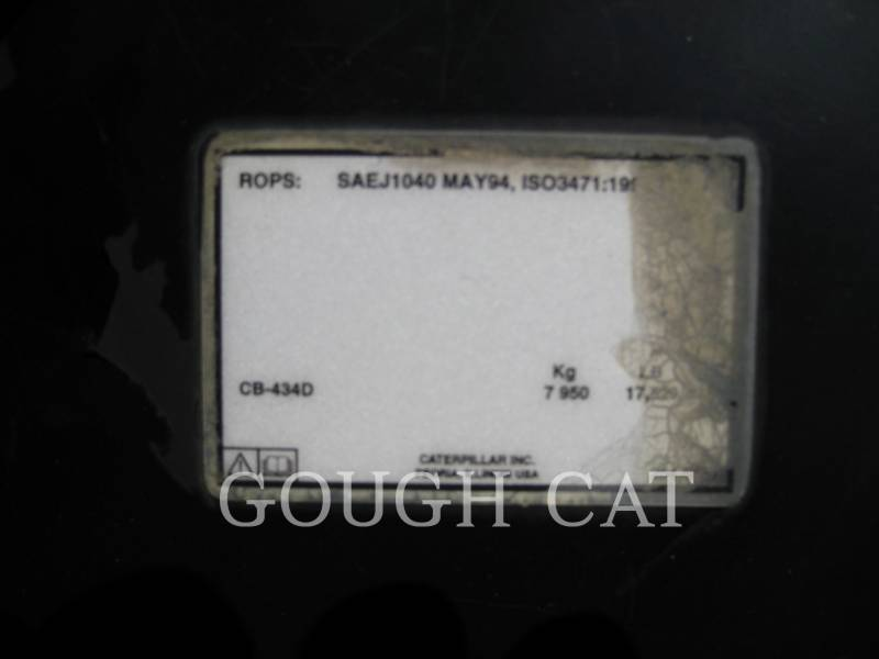 CATERPILLAR TANDEMOWY WALEC WIBRACYJNY DO ASFALTU (STAL-STAL) CB434D equipment  photo 20