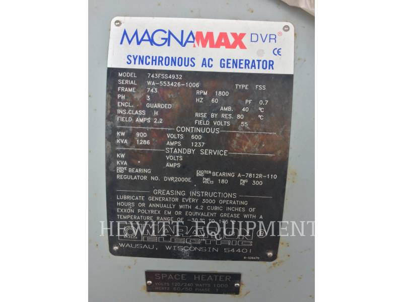 MARATHON SYSTEMS COMPONENTS 743FSS4932, 900KW 600VOLTS equipment  photo 5