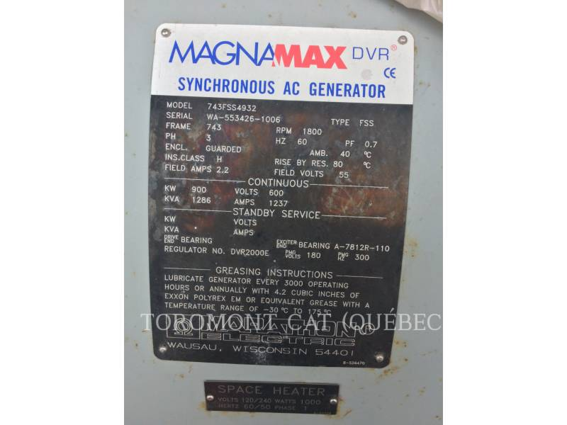MARATHON COMPONENTES DE SISTEMAS 743FSS4932, 900KW 600VOLTS equipment  photo 5