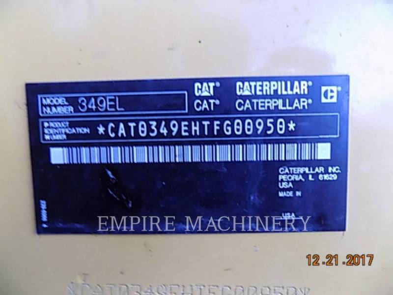 CATERPILLAR KETTEN-HYDRAULIKBAGGER 349EL equipment  photo 12