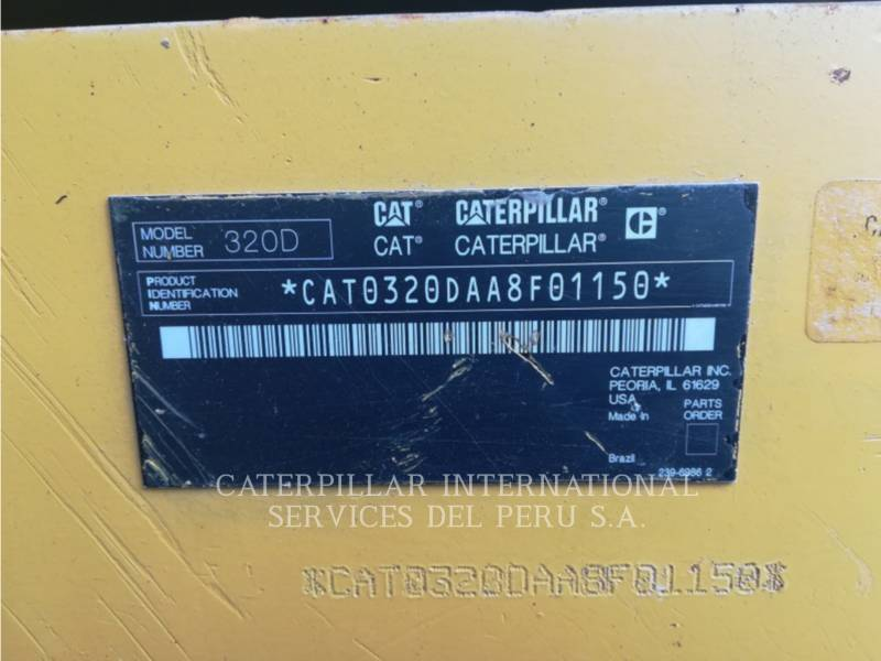 CATERPILLAR ESCAVATORI CINGOLATI 320DL equipment  photo 9