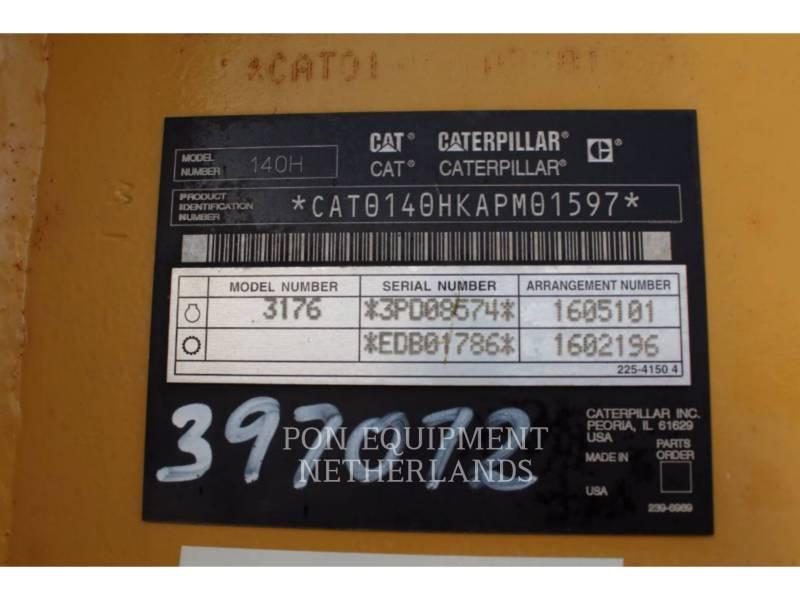 CATERPILLAR MOTORGRADER 140H equipment  photo 5
