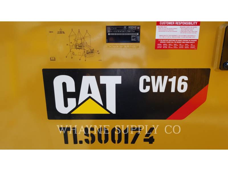 CATERPILLAR PNEUMATIC TIRED COMPACTORS CW16 equipment  photo 5