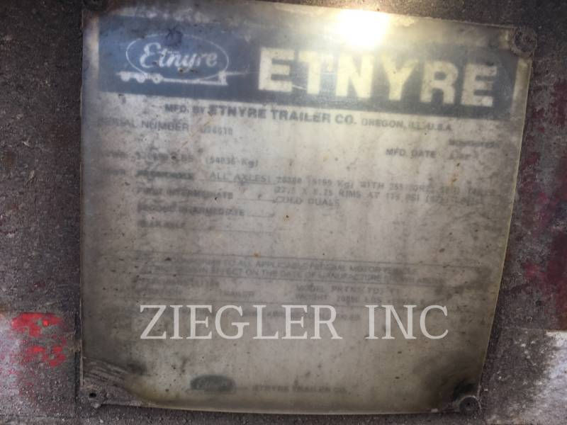 E.D. ETNYRE TRAILERS 55 TON equipment  photo 10