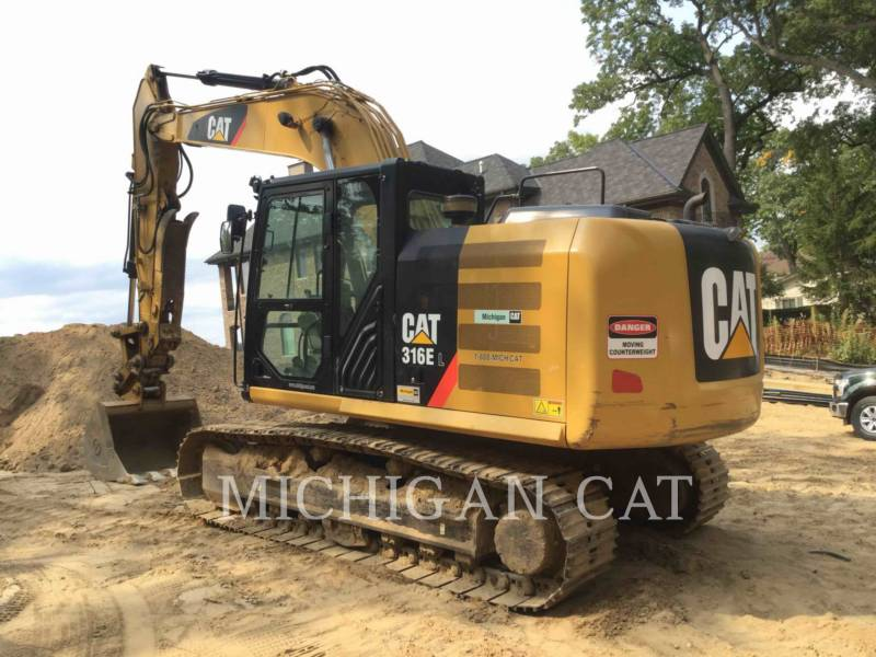 CATERPILLAR TRACK EXCAVATORS 316EL PTQ+ equipment  photo 4