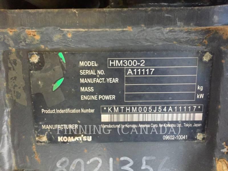 KOMATSU ARTICULATED TRUCKS HM300 - 2 equipment  photo 5