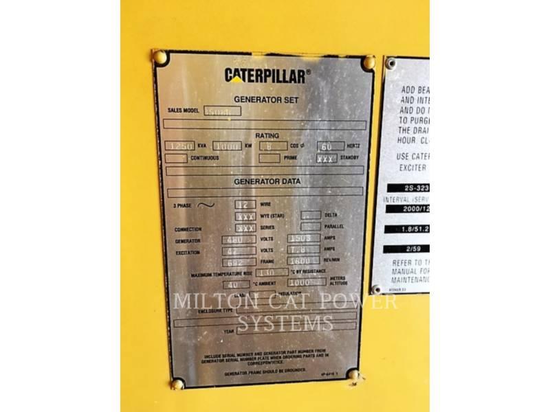 CATERPILLAR 固定式発電装置 D3508-1000 KW equipment  photo 3