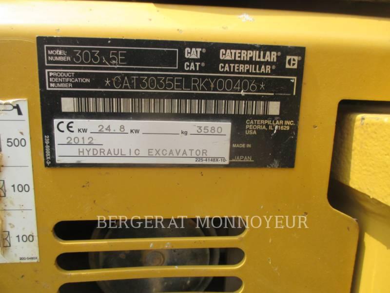 CATERPILLAR EXCAVADORAS DE CADENAS 303.5E CR equipment  photo 13