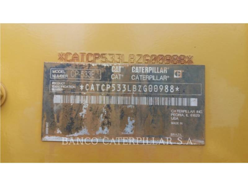 CATERPILLAR COMPATTATORE A SINGOLO TAMBURO VIBRANTE TASSELLATO CP-533E equipment  photo 5