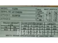MITSUBISHI FORKLIFTS PODNOŚNIKI WIDŁOWE FG25N_MT equipment  photo 5