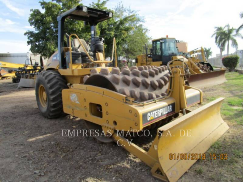 CATERPILLAR VIBRATORY SINGLE DRUM PAD CP-563E equipment  photo 1