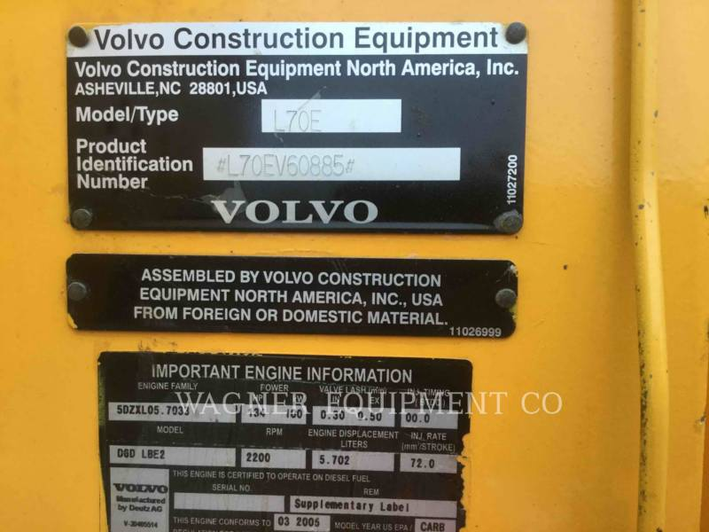 VOLVO WHEEL LOADERS/INTEGRATED TOOLCARRIERS L70E equipment  photo 12