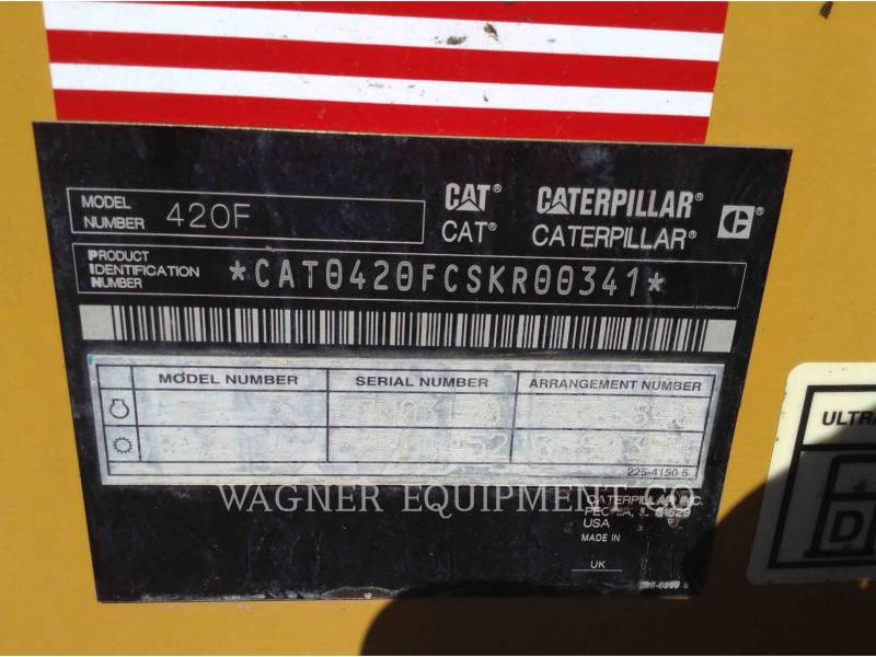 CATERPILLAR CHARGEUSES-PELLETEUSES 420F 4WD equipment  photo 9
