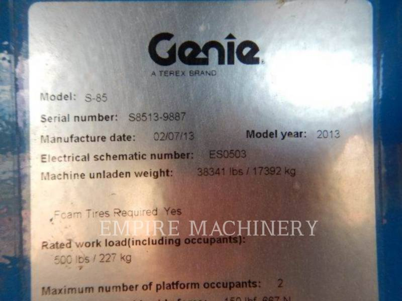 GENIE INDUSTRIES OTHER S-85 equipment  photo 9