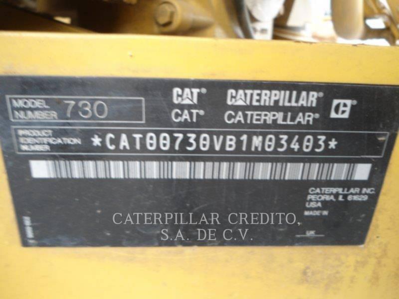 CATERPILLAR TOMBEREAUX ARTICULÉS 730 equipment  photo 5
