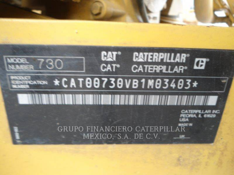 CATERPILLAR CAMINHÕES ARTICULADOS 730 equipment  photo 5