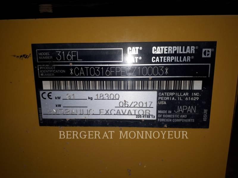 CATERPILLAR PELLES SUR CHAINES 316F equipment  photo 10