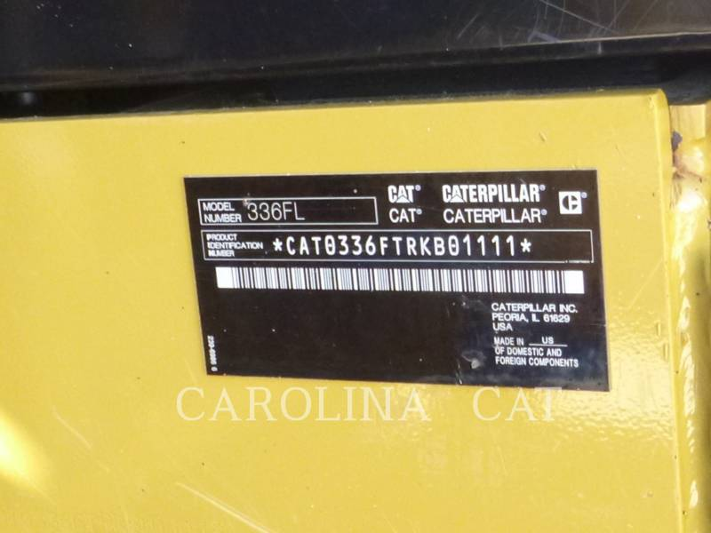 CATERPILLAR TRACK EXCAVATORS 336F QC equipment  photo 13