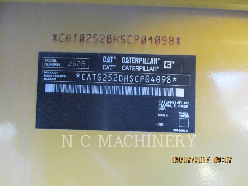 CATERPILLAR SKID STEER LOADERS 252B equipment  photo 5
