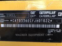 CATERPILLAR EXCAVADORAS DE CADENAS 336EL TC equipment  photo 5