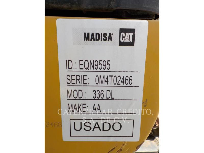 CATERPILLAR EXCAVADORAS DE CADENAS 336DL equipment  photo 20