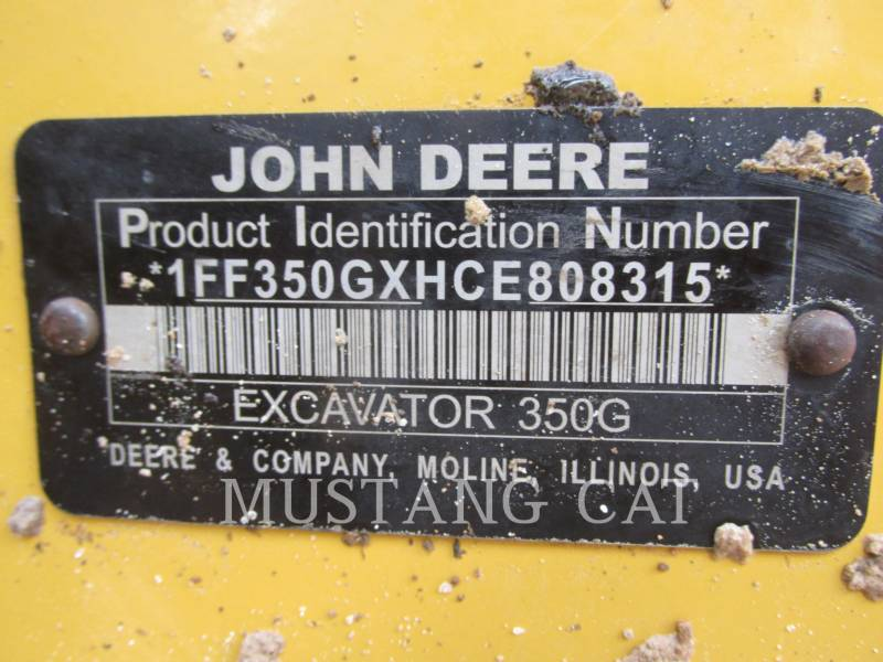 JOHN DEERE EXCAVADORAS DE CADENAS 350G equipment  photo 9