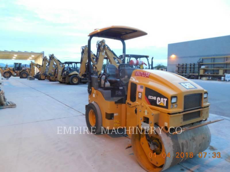 CATERPILLAR TANDEMOWY WALEC WIBRACYJNY DO ASFALTU (STAL-STAL) CC34B equipment  photo 1