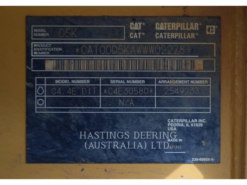 CATERPILLAR TRACK TYPE TRACTORS D5KXL equipment  photo 21