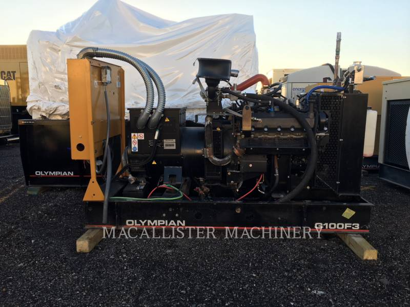 OLYMPIAN STATIONARY GENERATOR SETS G100F3 equipment  photo 1