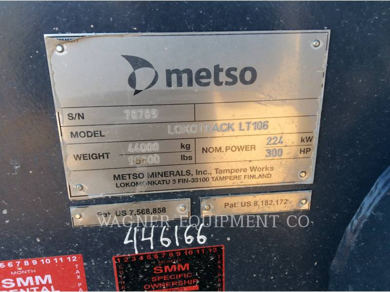 METSO TRITURADORAS LT106 equipment  photo 5