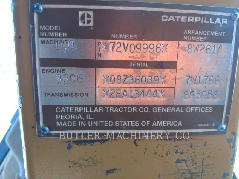 CATERPILLAR MOTOR GRADERS 140G equipment  photo 11