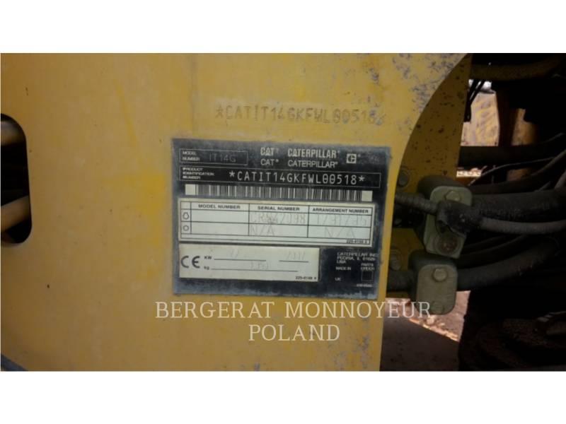 CATERPILLAR CARGADORES DE RUEDAS IT14G equipment  photo 5