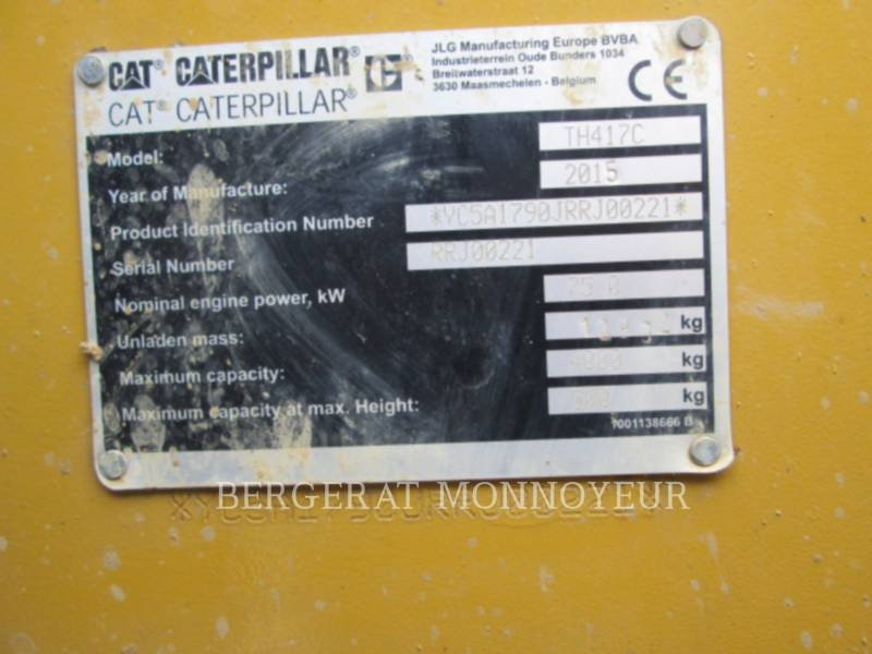 CATERPILLAR TELEHANDLER TH417C MH equipment  photo 5