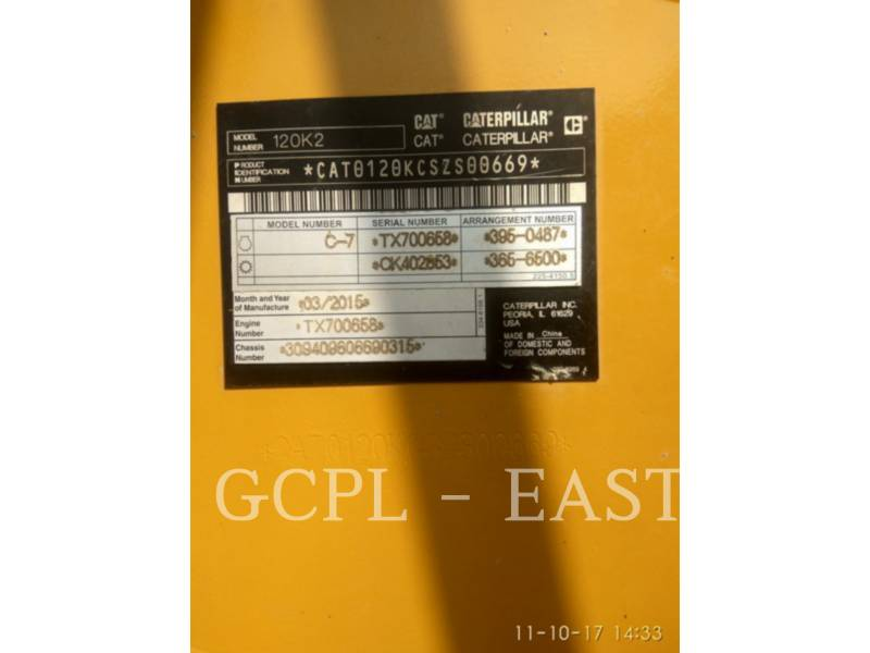 CATERPILLAR MOTORGRADER 120K2 equipment  photo 10